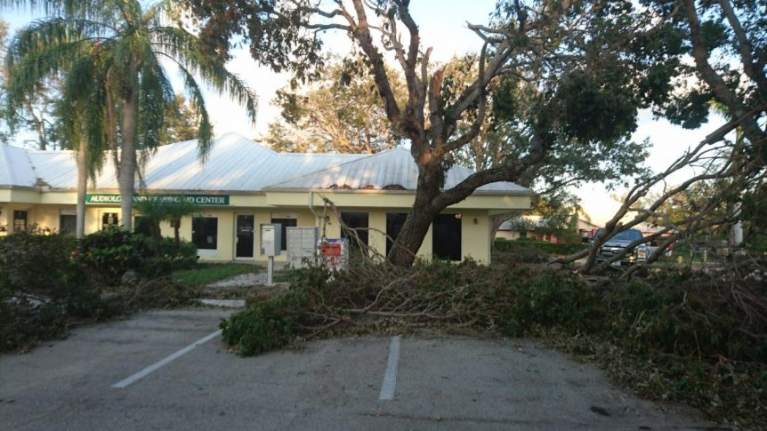 Hurricane Irma damage to our Immokalee Road location office in Naples Florida